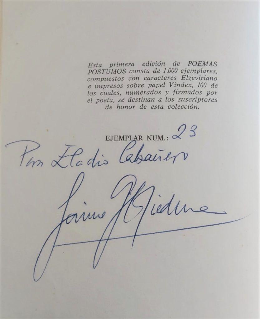 Gil de Biedma – Poemas póstumos (1965-67)