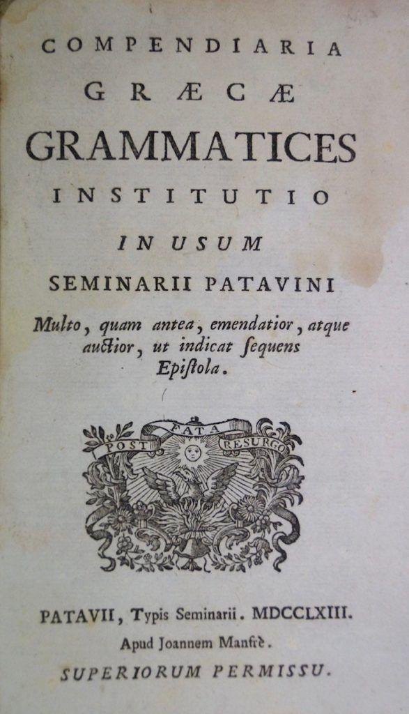 Gramática griega (1763)